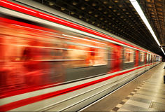 Red metro Royalty Free Stock Images