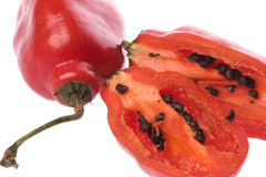 Red Mexican Chillies Macro Royalty Free Stock Images