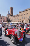 Red MG Starts the GP Nuvolari Royalty Free Stock Image