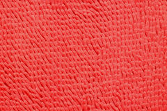 Red Microfiber bath mat Royalty Free Stock Images