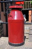 Red milk churn. Royalty Free Stock Images