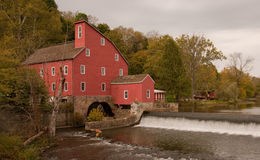 The Red Mill. The historic 1810 Red Mill located in Clinton, NJ Royalty Free Stock Image