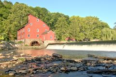 Red Mill, Clinton, New Jersey USA Stock Images