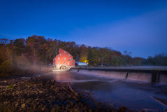 Red Mill at night Stock Photos