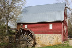 Red Millhouse Barn Stock Photography