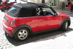 Red Mini Cooper car (2013 version) Stock Photo