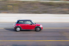 Red Mini Cooper Royalty Free Stock Photography