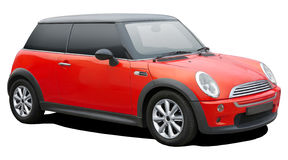 Red mini cooper. Royalty Free Stock Photos