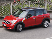 Red Mini Minor car (2013 version) Stock Photography