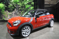 Red Mini paceman Royalty Free Stock Image