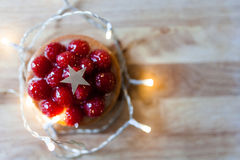 Red mini pie with ligths Stock Photography