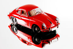 Red miniature car model Stock Photos