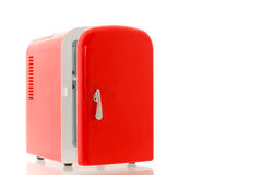Red miniature fridge 1 Royalty Free Stock Photography