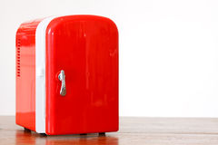 Red miniature fridge 2 Royalty Free Stock Image