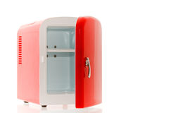 Red miniature fridge 3 Royalty Free Stock Photo