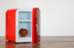Red miniature fridge 8 Royalty Free Stock Image