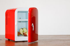 Red miniature fridge 9 Stock Photography