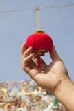 Red miniature lantern Royalty Free Stock Image
