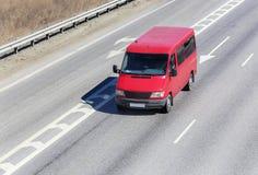 Red minibus Stock Image