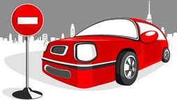 Red minicar car Royalty Free Stock Photos