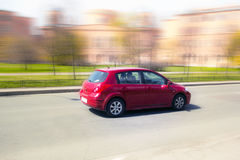 Red minicar Royalty Free Stock Image
