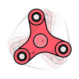 Red minimalistic rotating spinner Stock Photography
