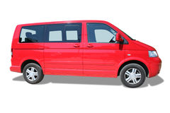 Red minivan Stock Images