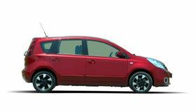 Red minivan Stock Images