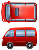 Red minivans Royalty Free Stock Photography