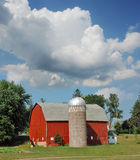 Red Minnesota Barn Royalty Free Stock Photography