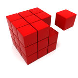 Red missing piece Stock Image