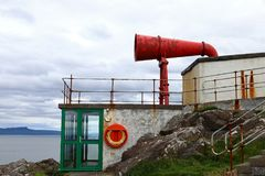 Red misthorn a Lighthouse in Scotland Royalty Free Stock Photo