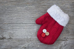 Red mitten Royalty Free Stock Images