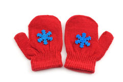 Red mittens Royalty Free Stock Photos