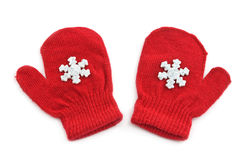 Red mittens Royalty Free Stock Photo