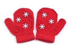 Red mittens Royalty Free Stock Image