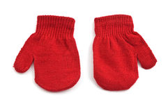 Red mittens Stock Photos