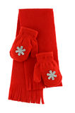 Red mittens and scarf Royalty Free Stock Photography
