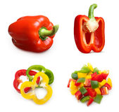 Red and mix pepper Stock Images