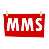 Red MMS Sign - illustration. MMS Sign - simple vector illustration Stock Image