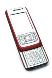 Red mobile slider phone Stock Images