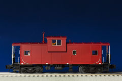 Red Model Caboose Royalty Free Stock Image