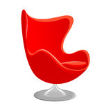 Red Modern armchair Royalty Free Stock Image