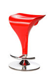 Red modern bar chair Stock Photos