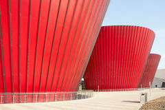 Red modern building Stock Images