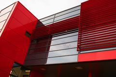 Red modern building Royalty Free Stock Photo