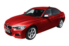 Red modern car, BMW 3 (F30) Stock Photography