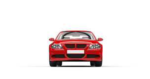 Red Modern Car - Front View Stock Photography