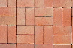 Red Modern Ceramic Clinker Pavers. Stock Photos