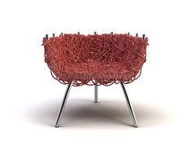 Red modern chair. On the white background Royalty Free Stock Image